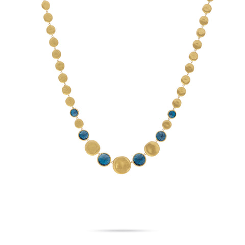 Jaipur London Blue Topaz Graduated Necklace