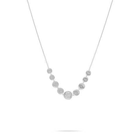Marco Bicego® Jaipur 18K White Gold and Diamond Necklace
