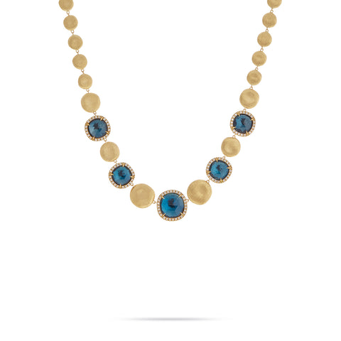 Marco Bicego® Jaipur Color Collection London Blue Topaz with Diamond Graduated Collar