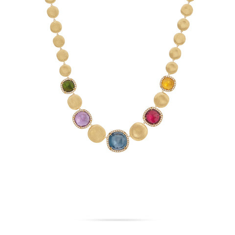 Marco Bicego® Jaipur Collection 18K Yellow Gold Mixed Gemstone and Diamond Collar