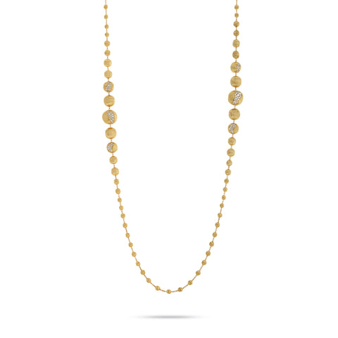 Marco Bicego® Africa Collection 18K Yellow Gold and Diamond Statement Degrade Necklace