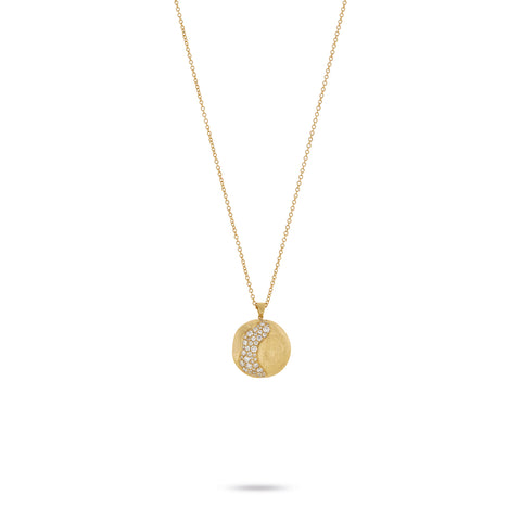 Marco Bicego® Africa Collection 18K Yellow Gold and Diamond Large Pendant Necklace
