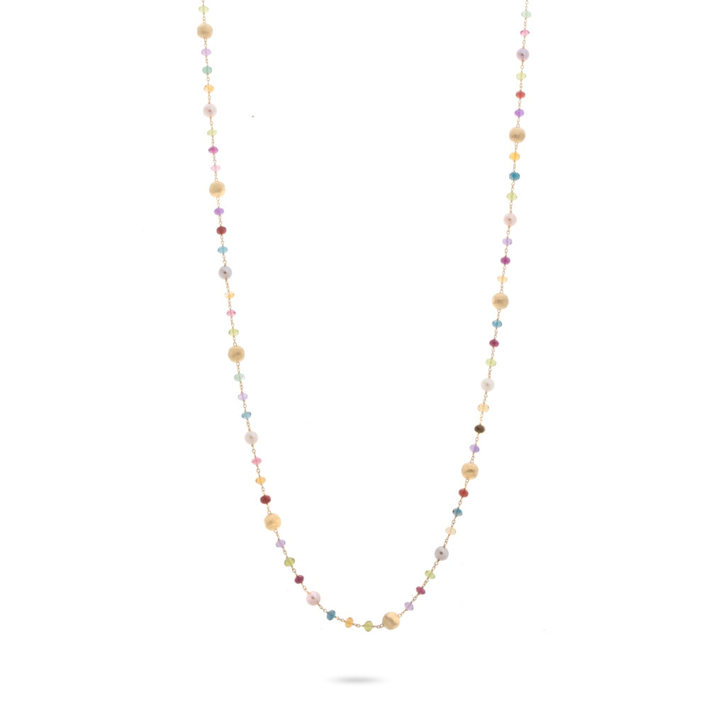 Marco Bicego® Africa Collection 18K Yellow Gold Mixed Gemstone and Pearl Long Necklace