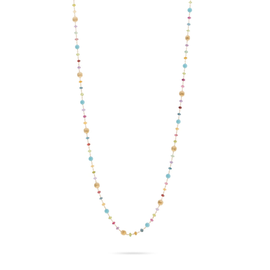 Marco Bicego® Africa Collection 18K Yellow Gold Mixed Gemstone and Turquoise Long Necklace
