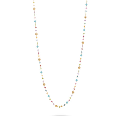 Africa Gemstone and Turquoise Long Necklace