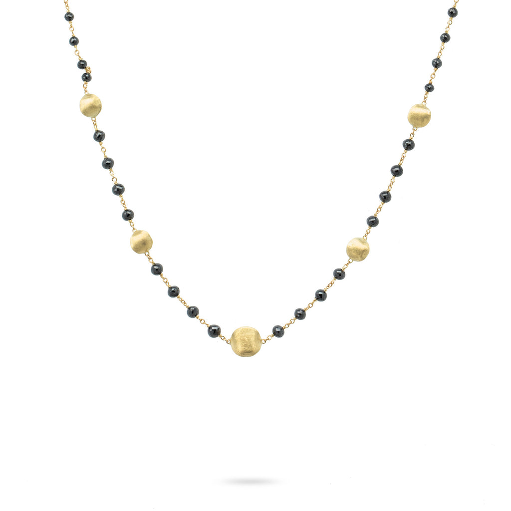 Marco Bicego® Africa Collection 18K Yellow Gold and Black Diamond Necklace
