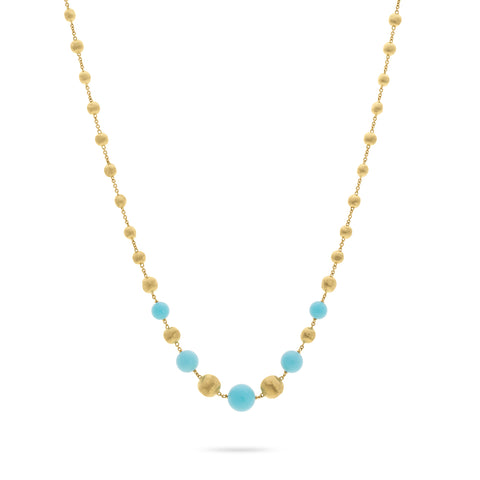 Marco Bicego® Africa Collection 18K Yellow Gold and Turquoise Short Necklace