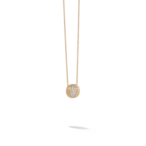 Marco Bicego® Africa Collection 18K Yellow Gold and Diamond Medium Pendant Necklace