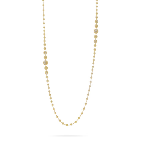 Marco Bicego® Africa Collection 18K Yellow Gold and Diamond Long Degrade Necklace