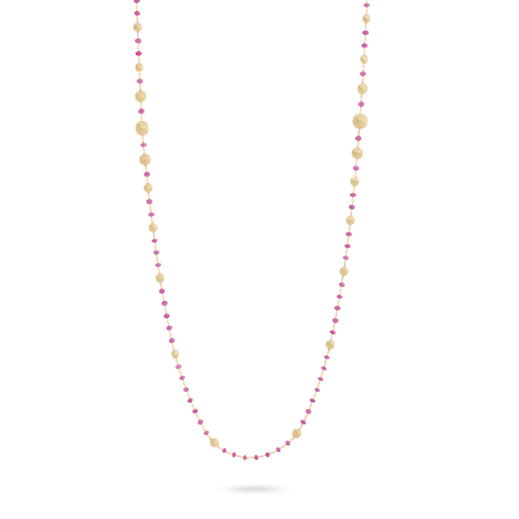 Marco Bicego® Africa Collection 18K Yellow Gold and Ruby Long Necklace