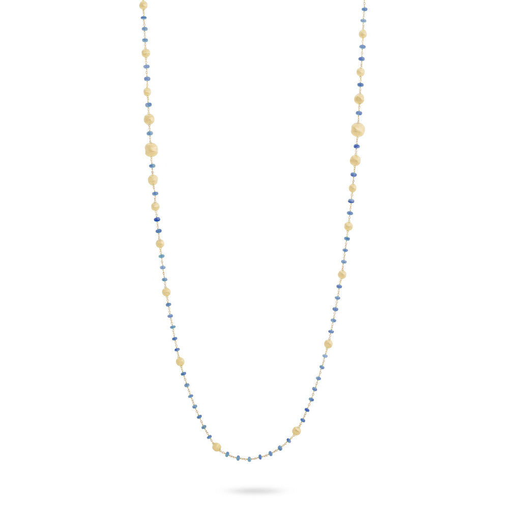 Marco Bicego® Africa Collection 18K Yellow Gold and Sapphire Long Necklace