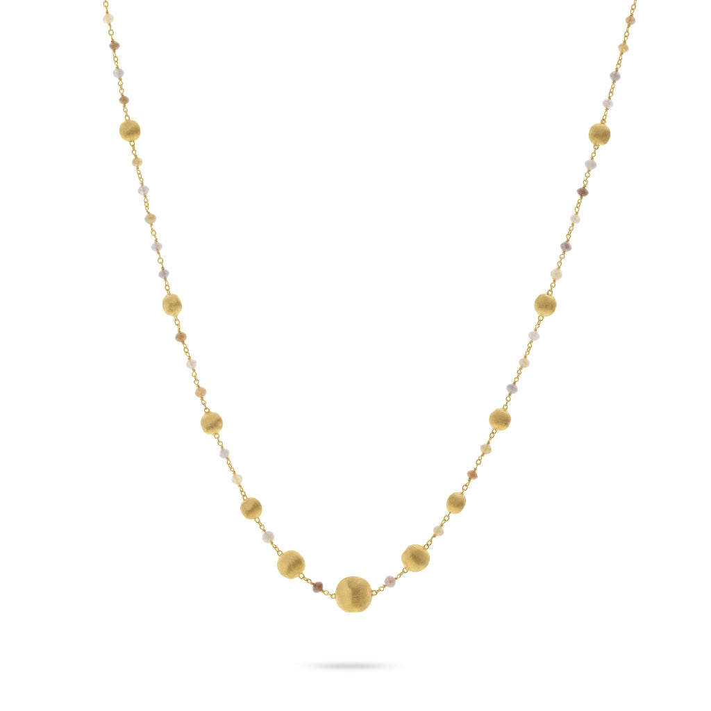 Marco Bicego® Unico Collection 18K Yellow Gold Rough Diamond Necklace