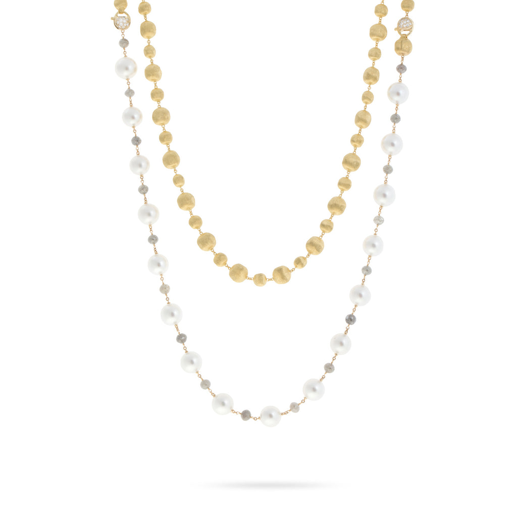 Unico South Sea and Multi color Diamond Convertible Necklace