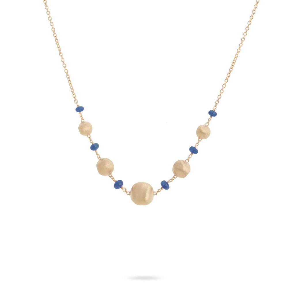 Marco Bicego® Africa Collection 18K Yellow Gold and Sapphire Necklace