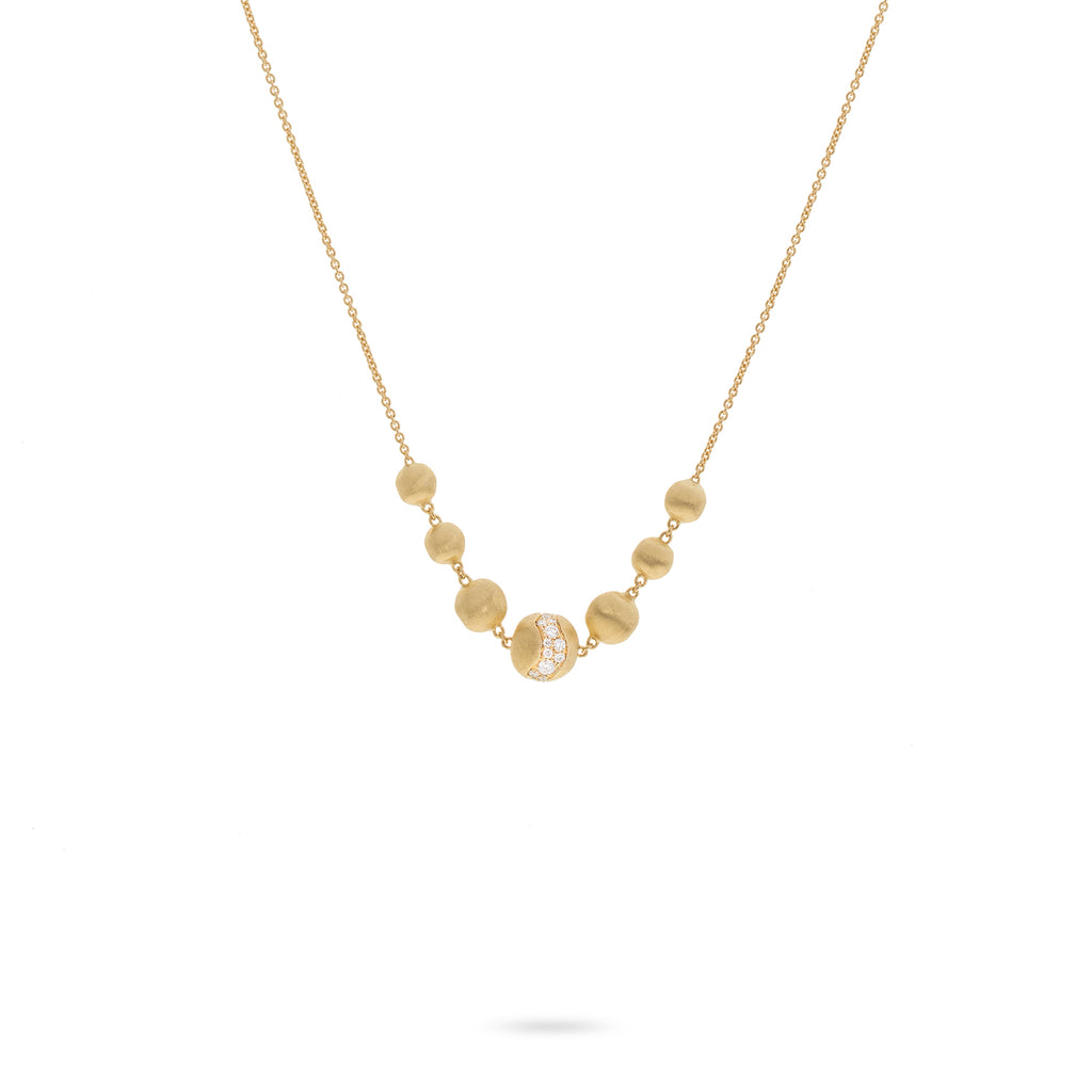 Marco Bicego® Africa Collection 18K Yellow Gold and Diamond Necklace