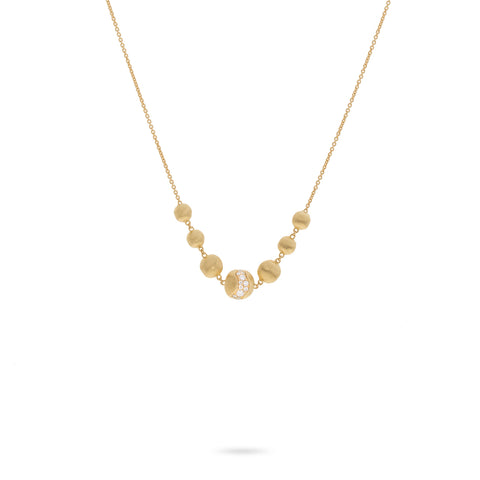 Africa Constellation 18K Yellow Gold and Diamond Necklace