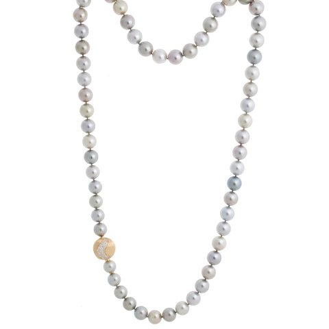Unico Tahitian Pearl and White Diamond Africa Necklace