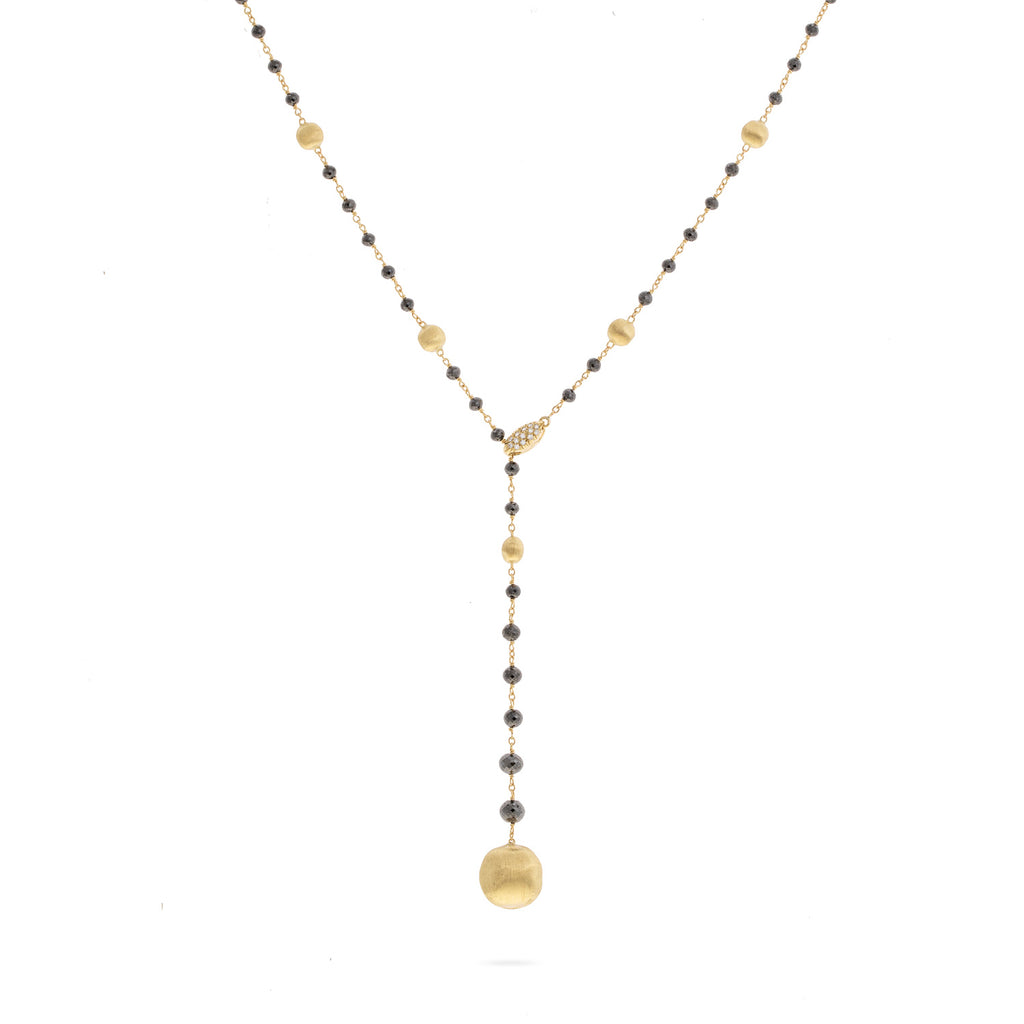 Marco Bicego® Africa Collection 18K Yellow Gold and Black Diamond Lariat