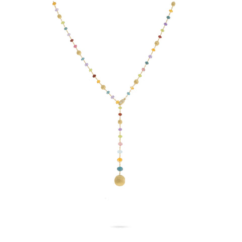Marco Bicego® Africa Collection 18K Yellow Gold Mixed Gemstone Lariat