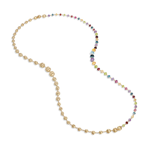 Marco Bicego® Africa Collection 18K Yellow Gold Mixed Gemstone Convertible Necklace