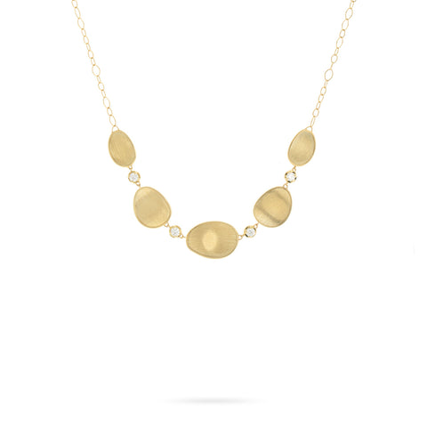 Lunaria Gold and Diamond Necklace