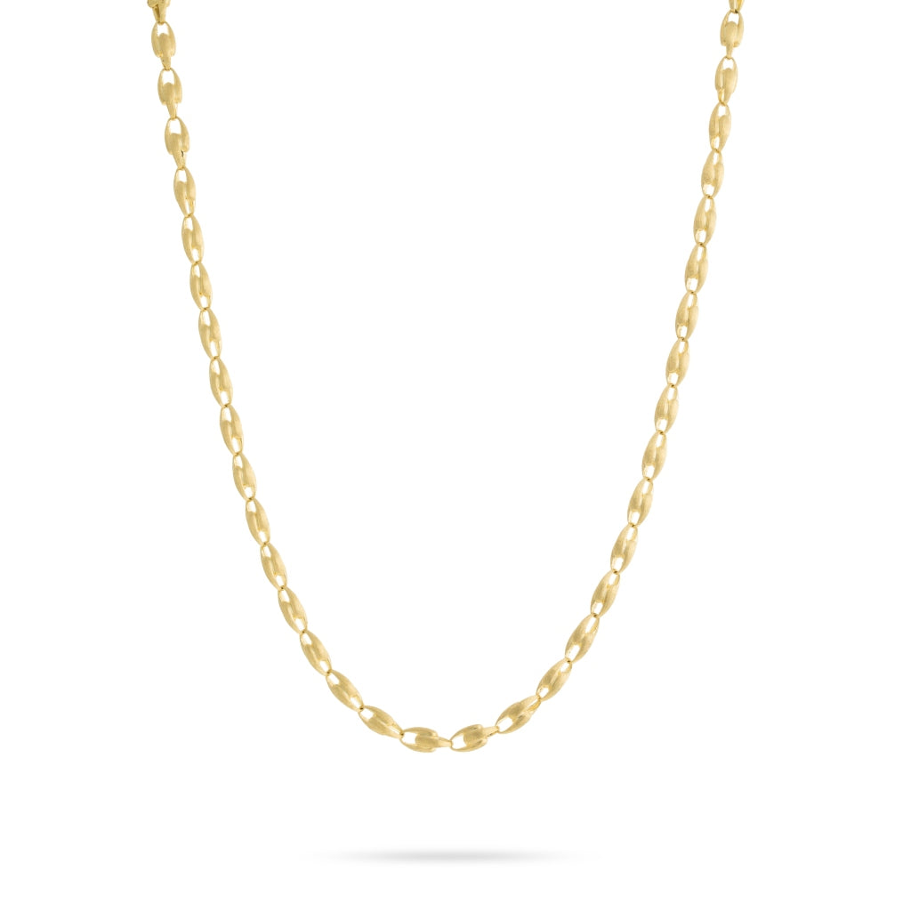 "Lucia 18K Yellow Gold Small Link 36"" Necklace"