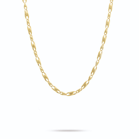 Legàmi Yellow Gold Alternating Link Chain Necklace