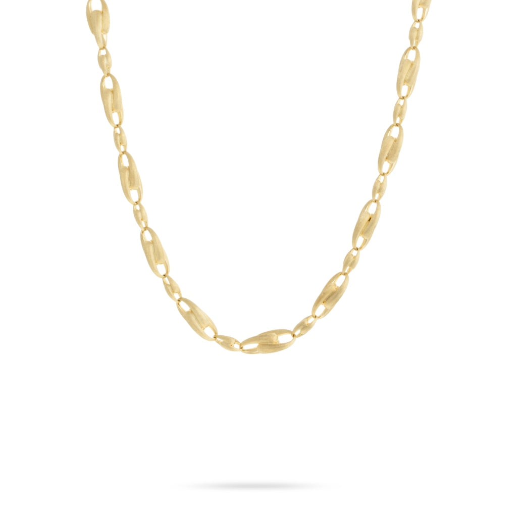 Marco Bicego® Lucia Collection 18K Yellow Gold Large Alternating Link Chain Necklace