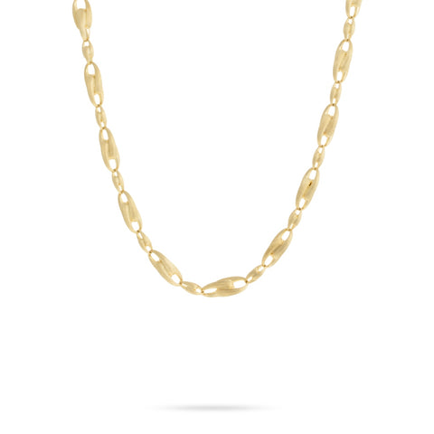 Yellow Gold Large Alternating Link Chain Necklace