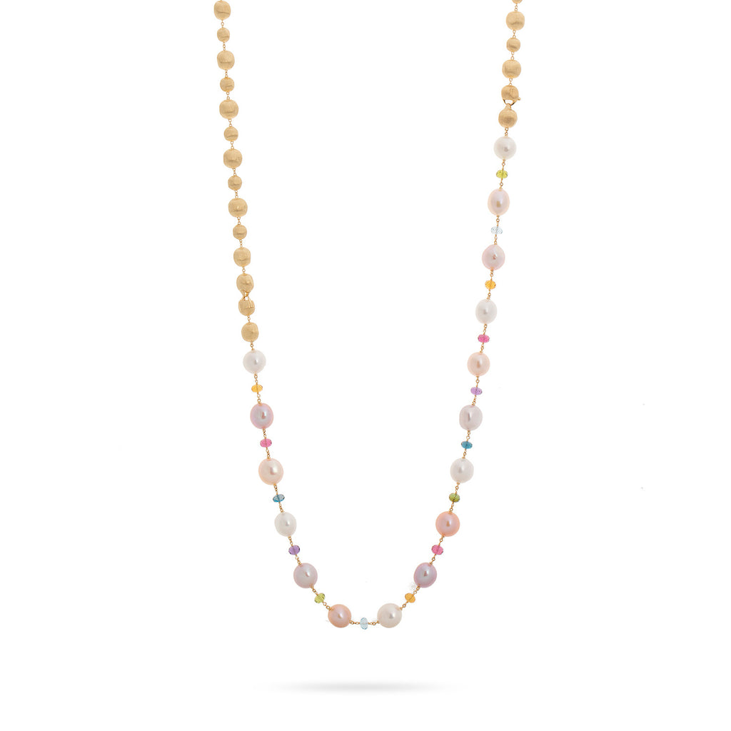 Unico Fresh Water Pearl and Mixed Gemstone Convertible Necklace