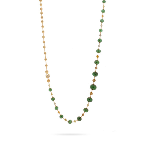 Unico Green Tourmaline and Multi Color Diamond Convertible Necklace