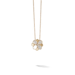 Marco Bicego® Petali Collection 18K Yellow Gold and White Mother of Pearl Small Flower Pendant image 1