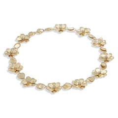 Marco Bicego® Petali Collection 18K Yellow Gold and Diamond Flower Collar image 1