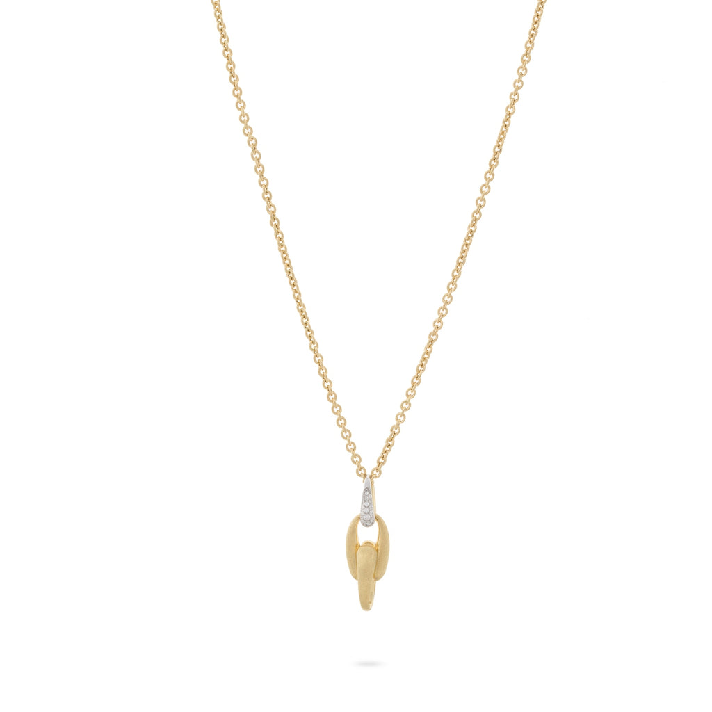 Lucia 18K Yellow Gold and Diamond Single Link Necklace