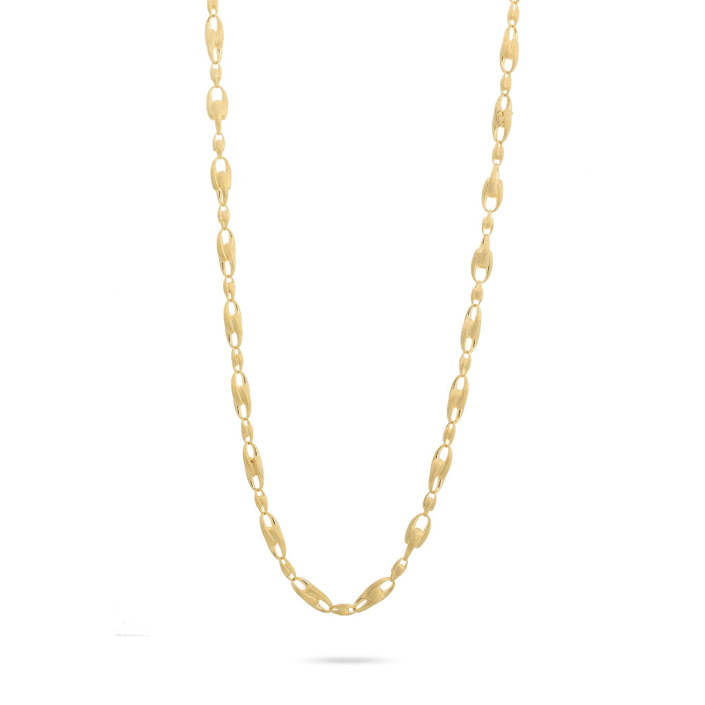 Marco Bicego®Lucia Collection 18K Yellow Gold Alternating Link Necklace
