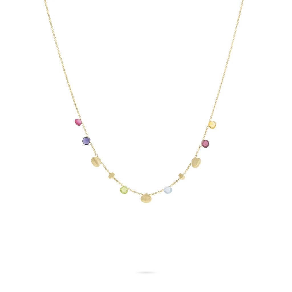 Marco Bicego® Paradise Collection 18K Yellow Gold and Mixed Gemstone Necklace