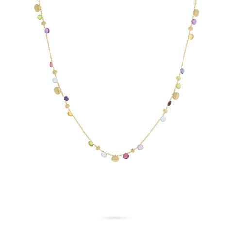 Marco Bicego® Paradise Collection 18K Yellow Gold and Mixed Gemstone Short Necklace