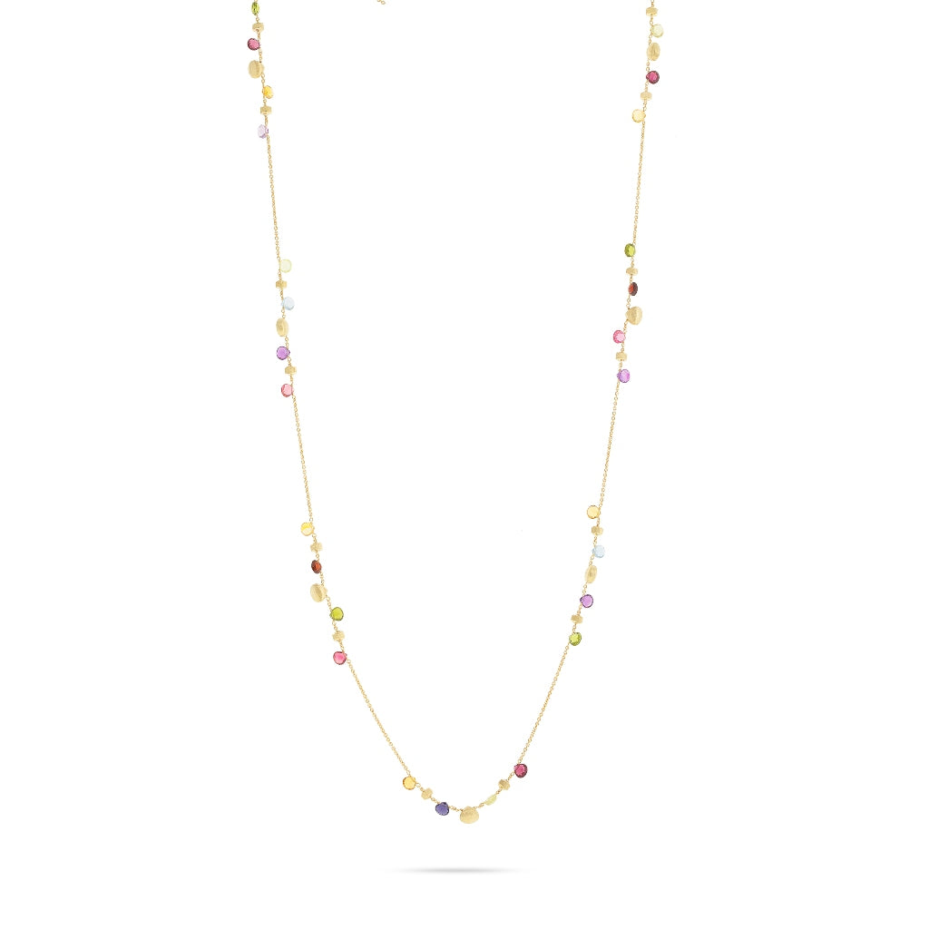 Marco Bicego® Paradise Collection 18K Yellow Gold and Mixed Gemstone Long Necklace