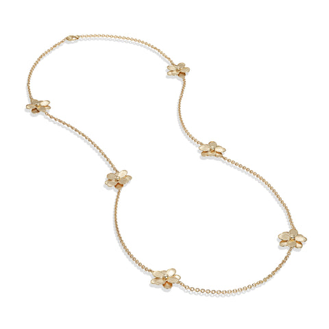 Marco Bicego® Petali Collection 18K Yellow Gold Long Flower Necklace