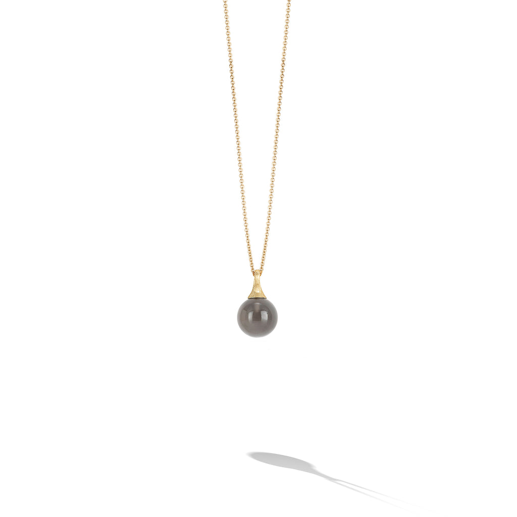 Marco Bicego® Africa Boule Collection 18K Yellow Gold and Grey Moonstone Pendant