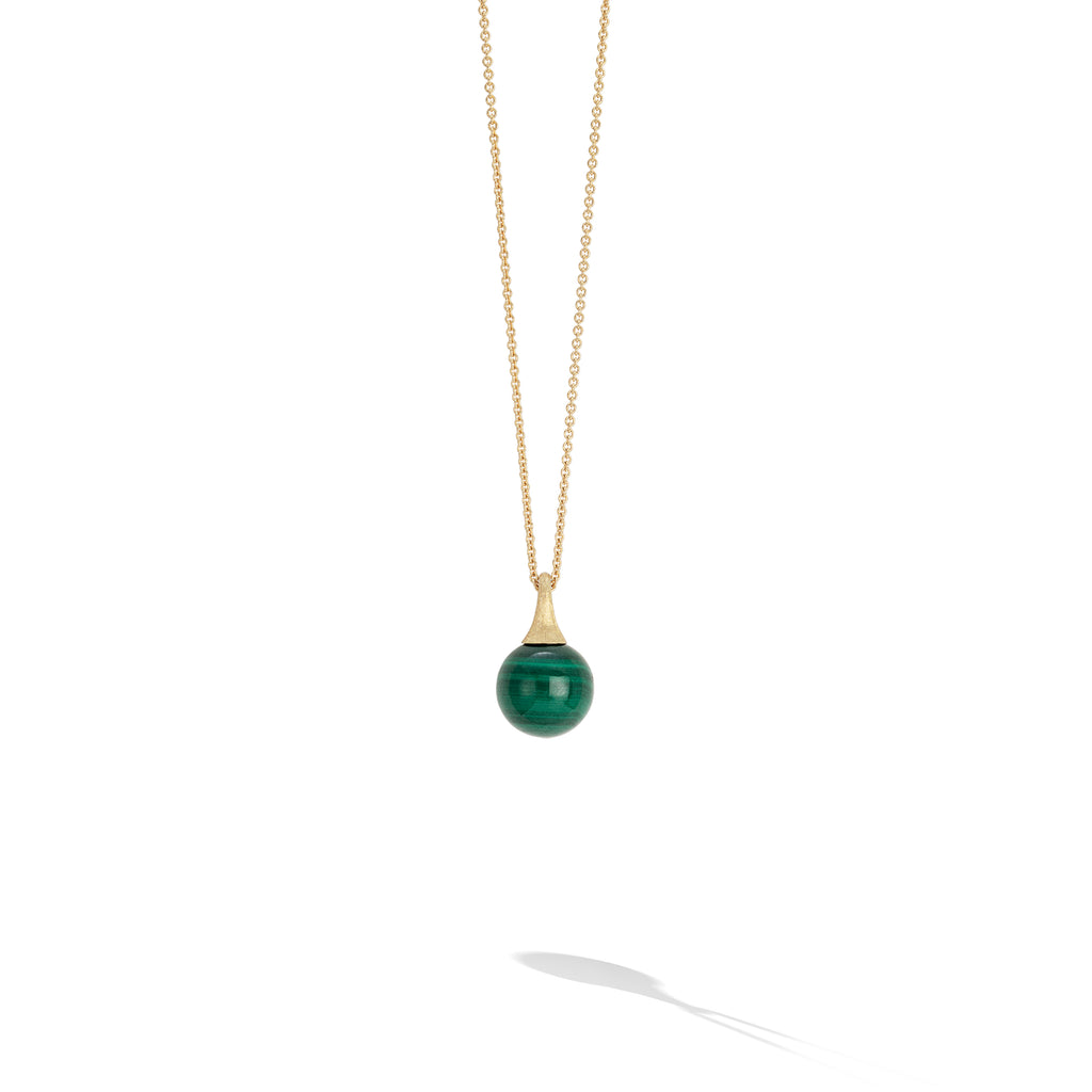 Marco Bicego® Africa Boule Collection 18K Yellow Gold and Malachite Pendant