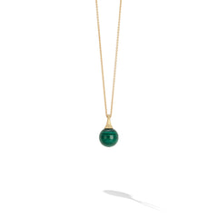 Marco Bicego® Africa Boule Collection 18K Yellow Gold and Malachite Pendant image 1