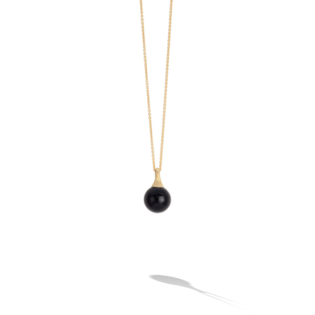 Marco Bicego® Africa Boule Collection 18K Yellow Gold and Onyx Pendant