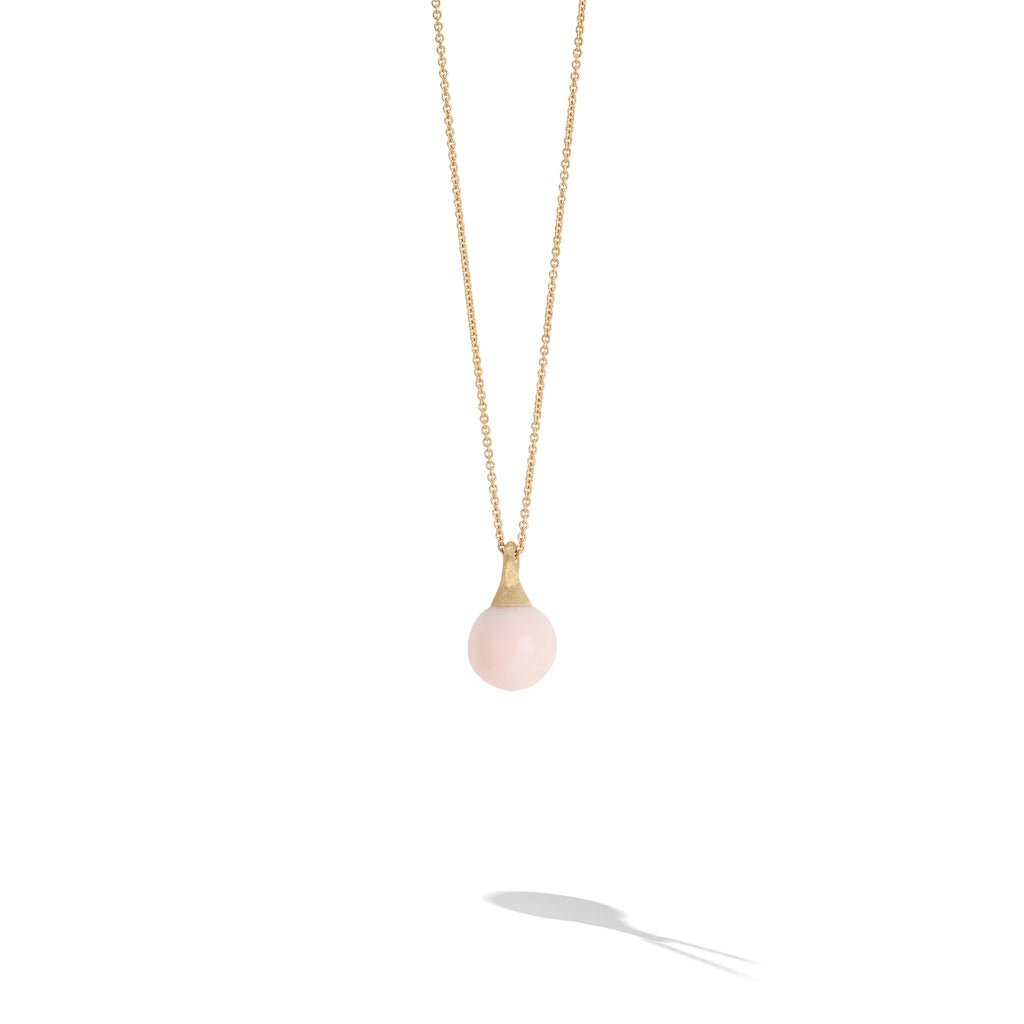 Marco Bicego® Africa Boule Collection 18K Yellow Gold and Pink Opal Pendant