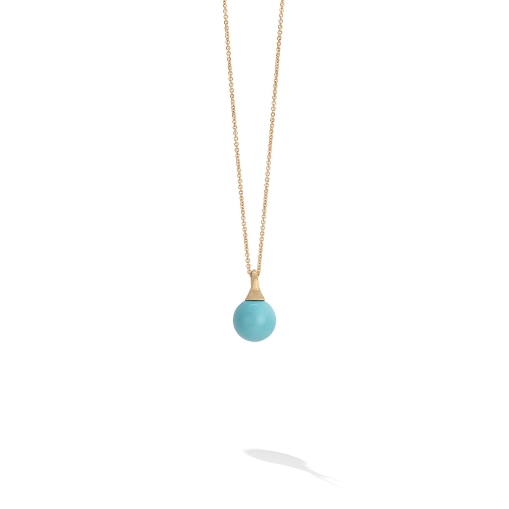 Marco Bicego® Africa Boule Collection 18K Yellow Gold and Turquoise Pendant