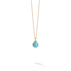 Marco Bicego® Africa Boule Collection 18K Yellow Gold and Turquoise Pendant image 1