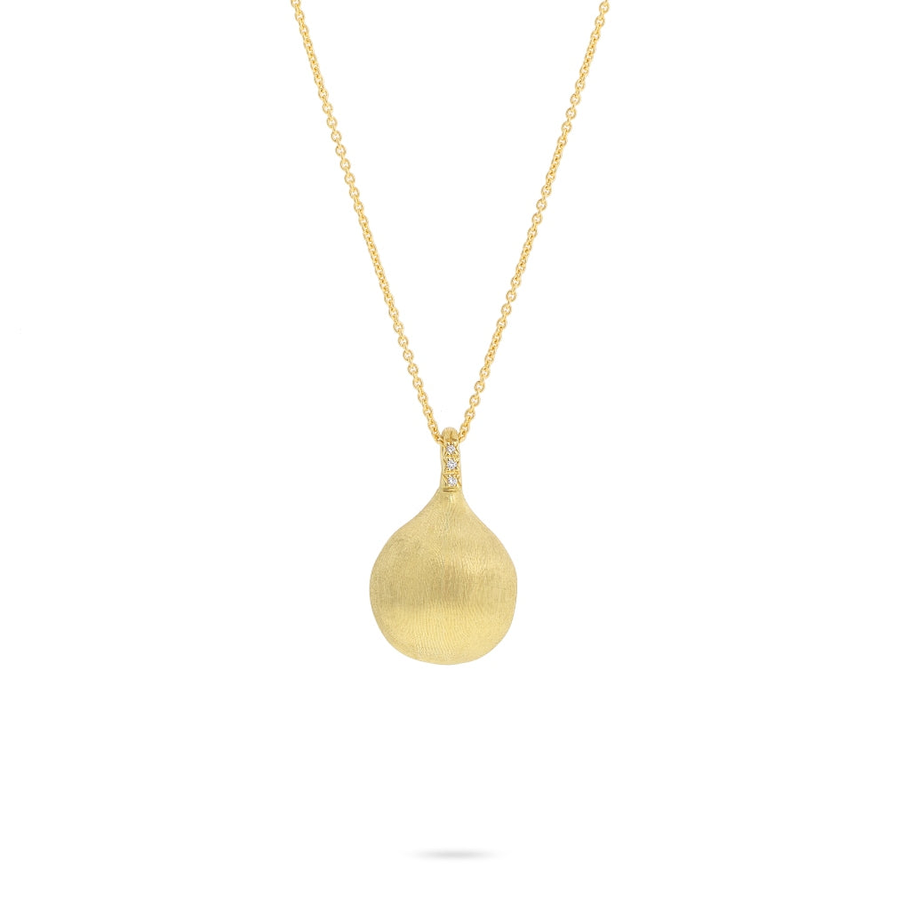 Marco Bicego® Africa Boule Collection 18K Yellow Gold and and Diamond Long Pendant