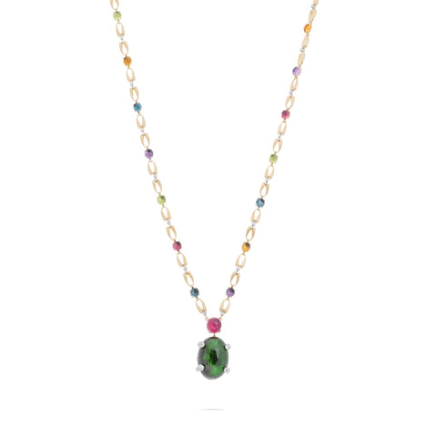 Marco Bicego® Unico Collection 18K Yellow Gold Tourmaline and Mixed Gemstone Necklace