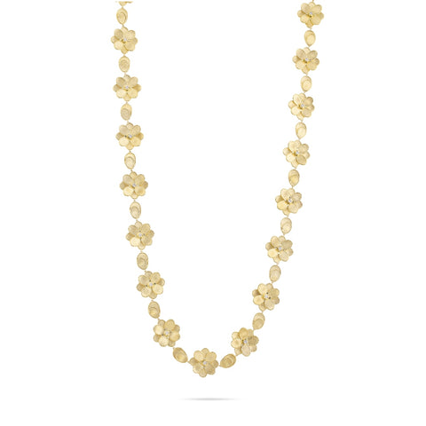 Marco Bicego® Unico Collection 18K Yellow Gold and Diamond Long Petali Necklace