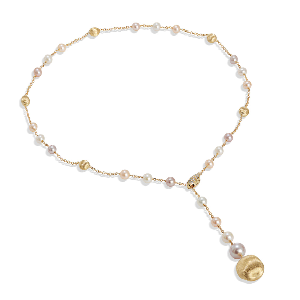 Marco Bicego® Africa Pearl Collection 18K Yellow Gold and Pearl Lariat